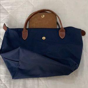 Blue small Longchamp bag